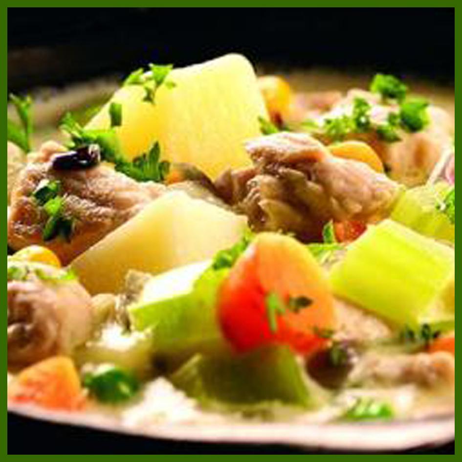خوراک بوقلمون و سبزیجات